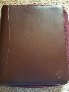 Large Franklin Covey Monarch Zippered Planner Organizer Faux Leather