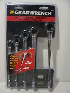 Gearwrench 5pc Sae Xl X beam Combination Ratcheting Wrench Set 85895