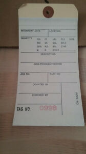 Quill Inventory Tags Plain 2part 500ct Case 6 25 x3 125 500 999 Office Supply