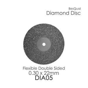 Dental Lab Diamond Disc 5 Double Sided 22mm X 0 30mm 6 piece For Porcelain