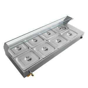 Updated Buffet Steam Table 110v Restaurant Food Warmer 8 pan Bain marie Hot
