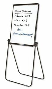 Quartet Easel Whiteboard Flip Chart 27 X 34 Inches Reversible Ultima Black