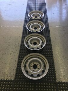1960s 70s Dodge Plymouth Mopar Steel Rally Wheels 14 x6 5x4 5 Bolt Pattern