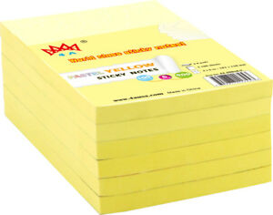 4a Sticky Notes Memo Reminder 4 X 6 Office Supplies 6 Pads Total 600 Sheets