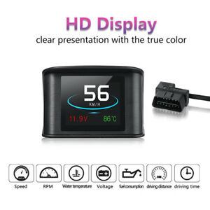 Hud Obd Car Speed Digital Speedometer Display Fuel Temperature Gauge Diagnostic