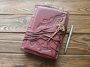 Fine Genuine Leather Cover Journal Diary Business Agenda A5 Leather Notebook