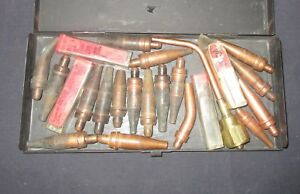 Vintage Welding Victor Cutting Tips And Cutting Torch Lot Of 25