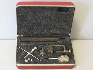 Starrett Rear Plunge Dial Indicator No 196 With Attachments And Case
