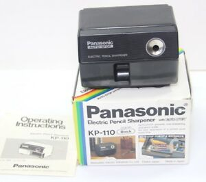 Panasonic Electric Pencil Sharpener Auto Stop Kp 110 Black W Box