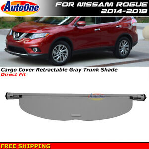 Cargo Cover Gray For Rogue 14 18 Retractable Shield Replacement Tonneau Shade
