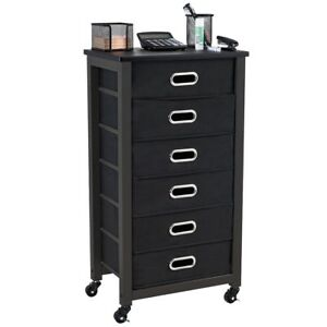 Rolling Mobile Storage Organizer Filing Cabinet W 6 Drawer Home Office Furniture