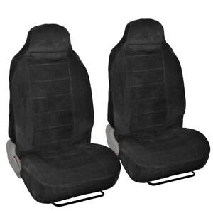 Thick Encore Velour Front Seat Covers For High Back Bucket Seats 2pc