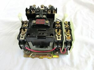 Allen Bradley Magnetic Motor Starter No Heaters