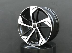 19x8 5 Inch Wheels Rims 5x112 Et 35 Black For Audi Tt A3 A4 A5 S4 S5 Rs4 Rs5