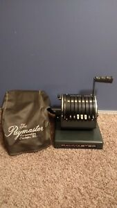 Vintage Antique Paymaster Series X 550 Manual Check Writer With Cover
