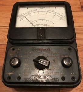 Vintage Simpson 260 Multimeter Series 2a