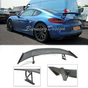 Boxster Cayman Gt4 Style Abs Rear Trunk Wing Spoiler Lip 981 For 13 16 Porsche