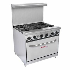 Tri star 36 Restaurant Range Series 6 Burner Stove