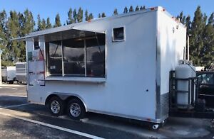 2014 8 Ft X 16 Ft Concession Food Trailer With Fire Suppression System
