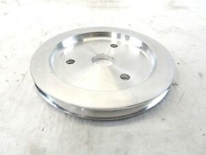 1955 68 Alum Small Block Chevy 283 350 383 Crankshaft Pulley Polished Bpe 5012p