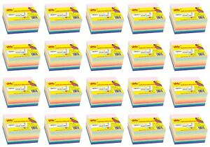 4a Sticky Note Cube 3x3 Note Paper Cube Neon Assorted 20 Packs Total 8000 Sheets