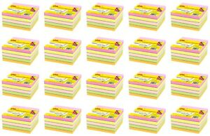 4a Sticky Notes Cube 3 X 3 Memo Pads Bookmarks Neon Assorted Total 8000 Sheets