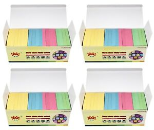4a Sticky Notes Post It Notes 3 X 3 Pastel Assorted 72 Pads Total 7200 Sheets