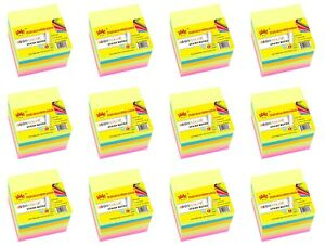4a Sticky Notes 3 X 3 Self stick Notes Neon Assorted 72 Pads Total 7200 Sheets