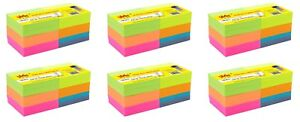 4a Sticky Pop up Notes Planner Pad 3 X 3 Neon Assorted 72 Pads Total 7200 Sheets