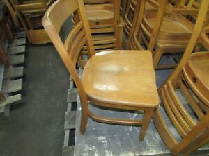 18 Vintage Solid Wooden School Library Student Study Chair Restaurant 2
