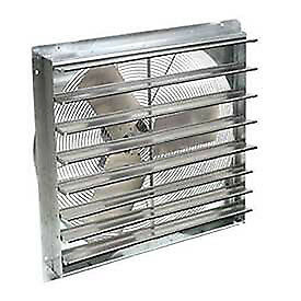 24 Exhaust Ventilation Fan With Shutter Single Speed With Hardware Lot Of 1