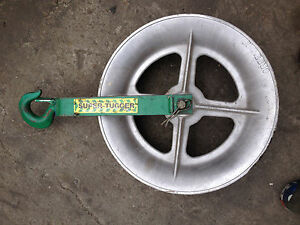 Lot Of 3 Greenlee Super tugger 6018 Wheel Roller Wire Puller r