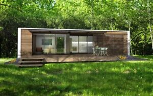 40 ft Prefab Luxury Ship Container Home 1 Bd 1 Bth Kitch liv 320 Sqft