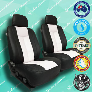 For Ford Falcon White Leather Car Front Seat Covers Vinyl All Over Seat