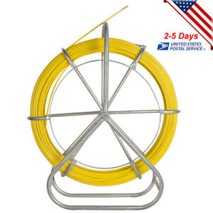 130m Fish Tape Fiberglass Wire Cable Running Rod Duct Rodder Puller High Quality