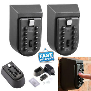 2x Outdoor Wall Mount Key Safe Code Combination Password Security Lock Box Case