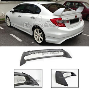 Rear Trunk Wing Spoiler For 06 11 Honda Civic Sedan Fd2 Fa2 Mugen Rr Abs Plastic