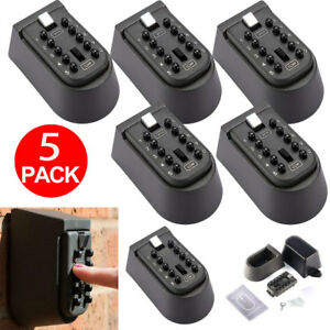 5x Outdoor Wall Mount Key Safe Code Combination Password Security Lock Box Case