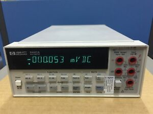 Hp 34401a 6 5 Digits Digital Multimeter tested Working