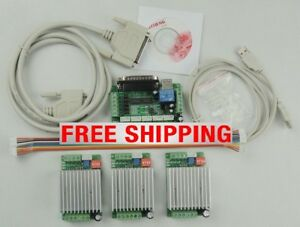 Tb6600 3 Axis Stepper Motor Driver Controller 4 5a Mach3 5 Axis Breakout Board