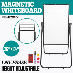 Single Sided Rolling Magnetic Dry Erase Whiteboard 36 24