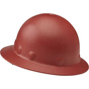 Fibre metal Roughneck P1 Full Brim Hard Hat With Ratchet Red