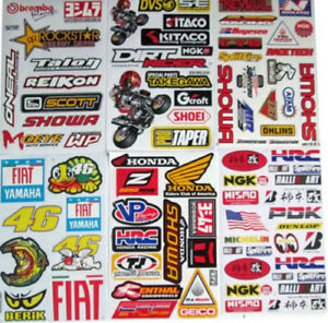 New Honda Factory Stickers Decals Motocross Bike And Car Racing 6 Sheets