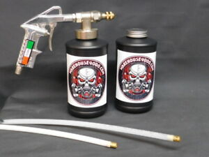Fluid Film Pro Undercoating Gun With 2 Empty Bottles 2 Pro Wands 100 Plugs