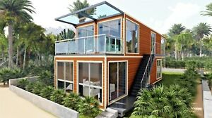 40 ft X 4 Luxury Duplex Shipping Container Home 2bd 2bth 640sqft 2 fin Avail