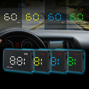 Car Head Up Display A1000 Hud Projector Speedometer Mph Km H Speed Warning