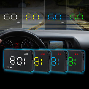 Car Head Up Display Obd2 Ii Hud Projector Speedometer Mph Km H Speed Warning Fm