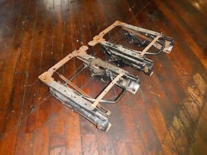 Jeep Tj Wrangler 97 02 Front Flip Folding Seat Bracket Slider Pair Free Ship