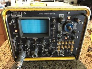 Vintage Military Oscilloscope An usm 338 Hp Hewlett Packard Powers On