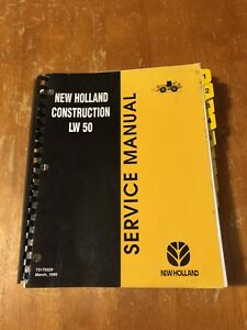 New Holland Construction Lw50 Lw60 Lw70 Wheel Loader Service Manual